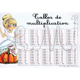 Table de multiplication cendrillon lilly muffin - Table de multiplication a imprimer ...