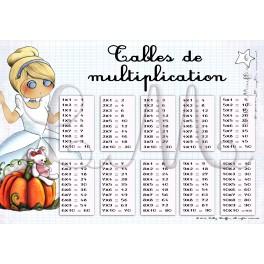 Table de multiplication CENDRILLON