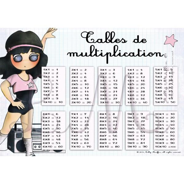 Tables de multiplication jennifer lilly muffin - Imprimer tables de multiplication ...