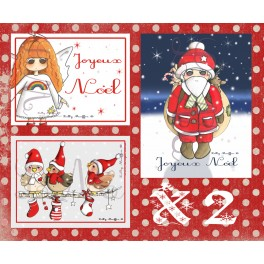 Lot de 6 cartes de Noël