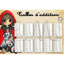 Tables d'addition LE PETIT CHAPERON ROUGE