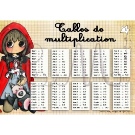 Tables de multiplication LE PETIT CHAPERON ROUGE