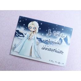 """Cartes invitations """"La reine des neiges"""""""