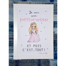 Affiche A4 Princesse