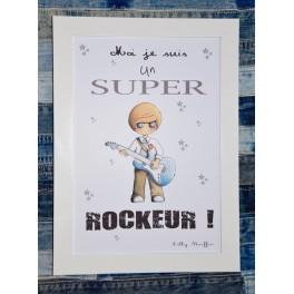 Affiche A4 Rockeur
