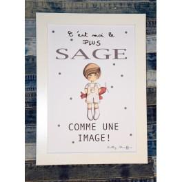 Affiche A4 Sage comme une image