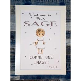 Affiche A4 Sage comme une image - Fille