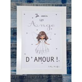 Affiche A4 L'ange - fille