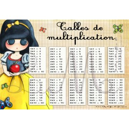Tables de multiplication BLANCHE-NEIGE