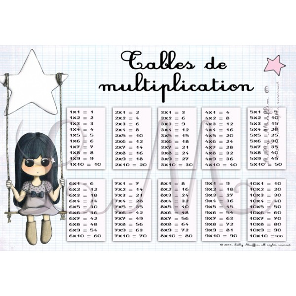 Tables de multiplication mathilde lilly muffin - Table de multiplication chronometre ...