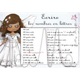 Les nombres en lettres planche 2