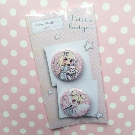 "Badges ""Alice et Luna"""