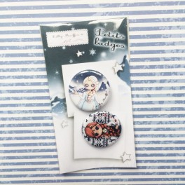 "Badges ""La Reine des neiges"""