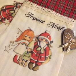 """Chaussette de Noël """"Joyeux Noël"""""""